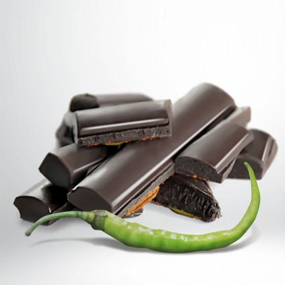 Txokolate beltza (% 70) Ibarrako piparrarekin.