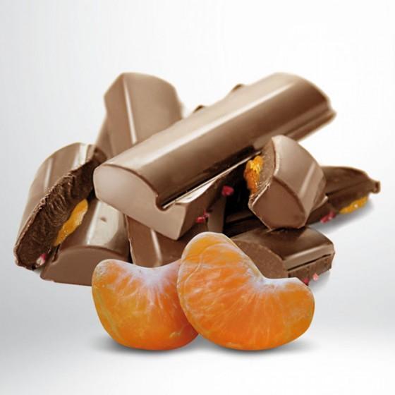 Txokolate esneduna (% 42) Kalabriako mandarinarekin.