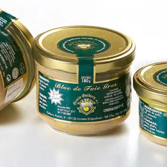 Foie gras bloka. 180 g.